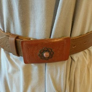 Linea People Anthropology Leather Belt 2 Tone